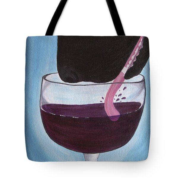 Wine Is Best Shared With Friends - Black Dog Tote Bag
