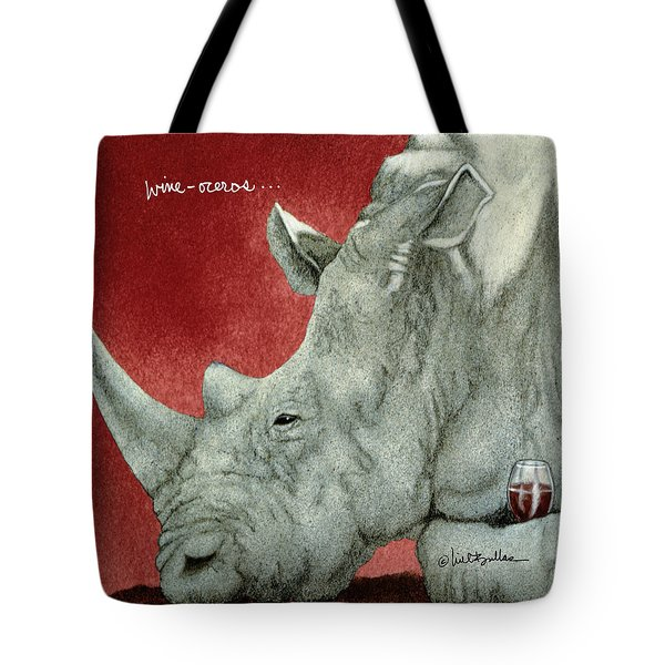 Wine-oceros... Tote Bag by Will Bullas