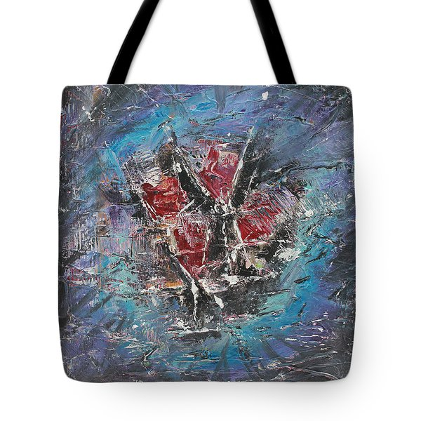 Tote Bag featuring the painting Wine-o'clock by Lucy Matta
