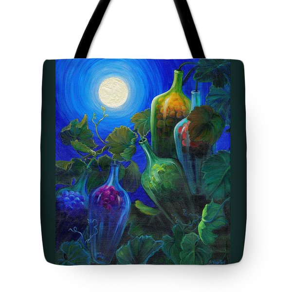 Tote Bag featuring the painting Wine On The Vine by Sandi Whetzel