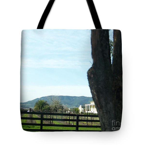 Tote Bag featuring the photograph Winery by Bobbee Rickard