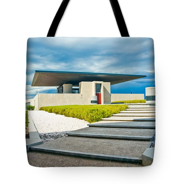 Winery Modernism Tote Bag