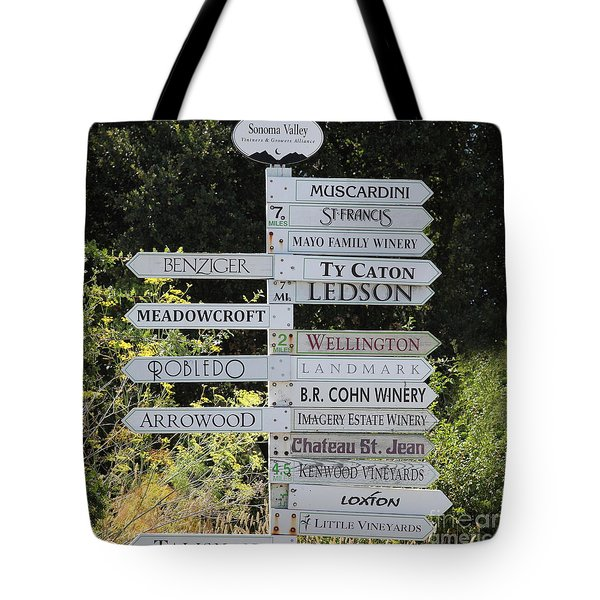 Winery Street Sign In The Sonoma California Wine Country 5d24601 Square Tote Bag