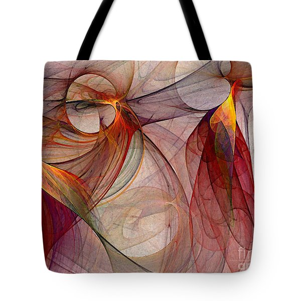 Winged-abstract Art Tote Bag by Karin Kuhlmann