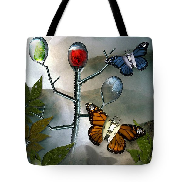 Winged Metamorphose Tote Bag