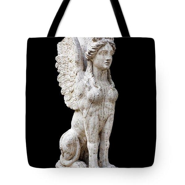 Winged Sphinx Tote Bag by Fabrizio Troiani