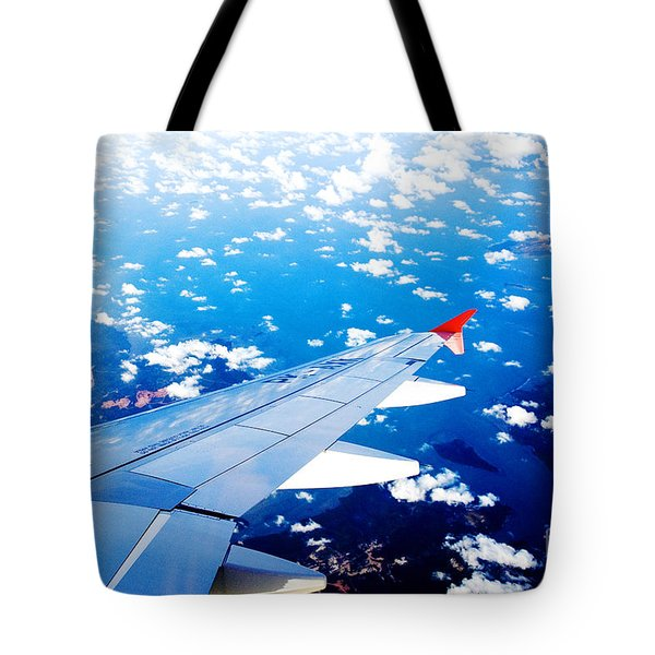 Wings And Clouds Tote Bag