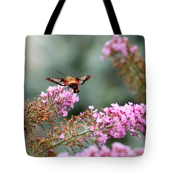 Tote Bag featuring the photograph Wings In The Flowers by Kerri Farley