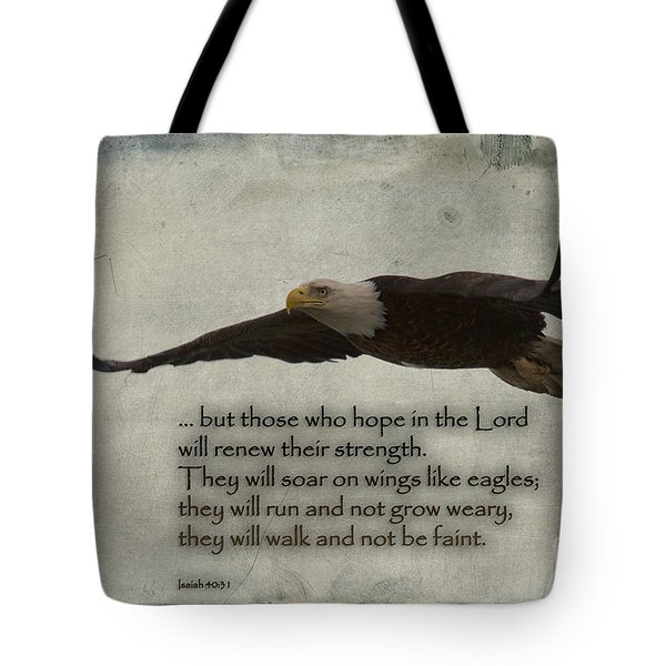 Wings Like Eagles Tote Bag