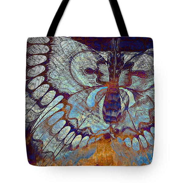 Tote Bag featuring the mixed media Wings Of Destiny by Christopher Beikmann