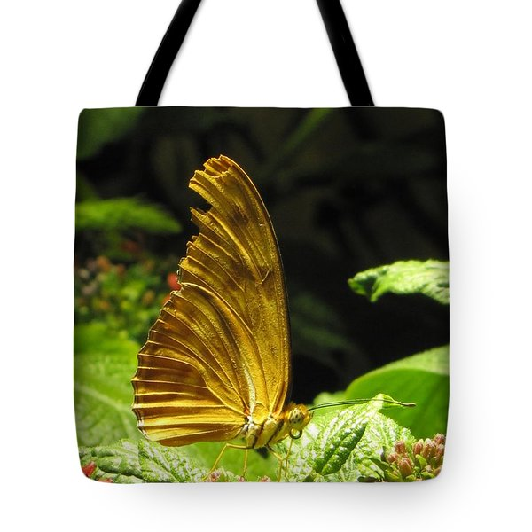 Wings Of Gold Tote Bag by Jennifer Wheatley Wolf