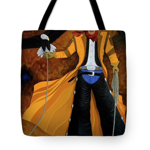 Wings Of The West Tote Bag by Lance Headlee