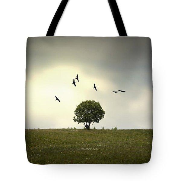 Wings Over The Tree Tote Bag