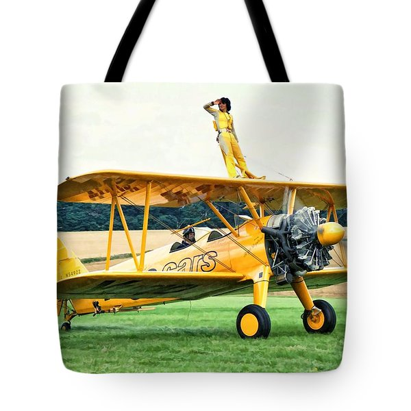 Wingwalking Tote Bag