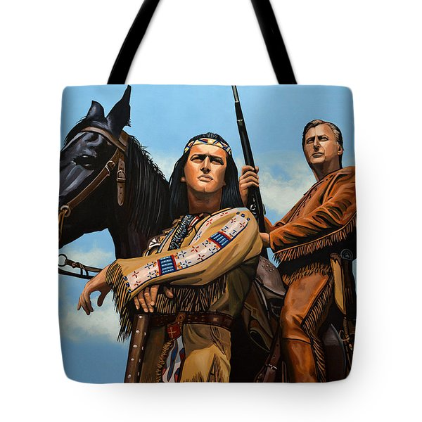 Winnetou And Old Shatterhand Tote Bag