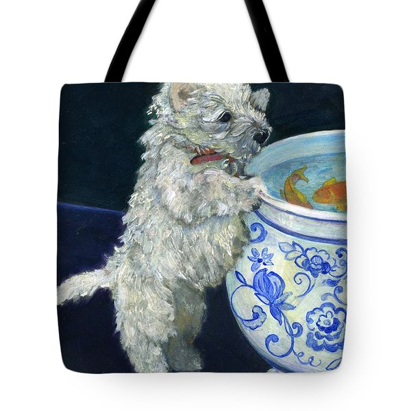 Winnie The Koi Watcher Tote Bag by Kimberly McSparran