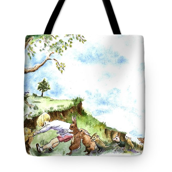 Helping Hands After E H Shepard Tote Bag