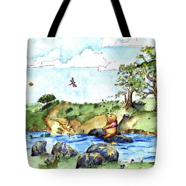 Imagining The Hunny  After E  H Shepard Tote Bag