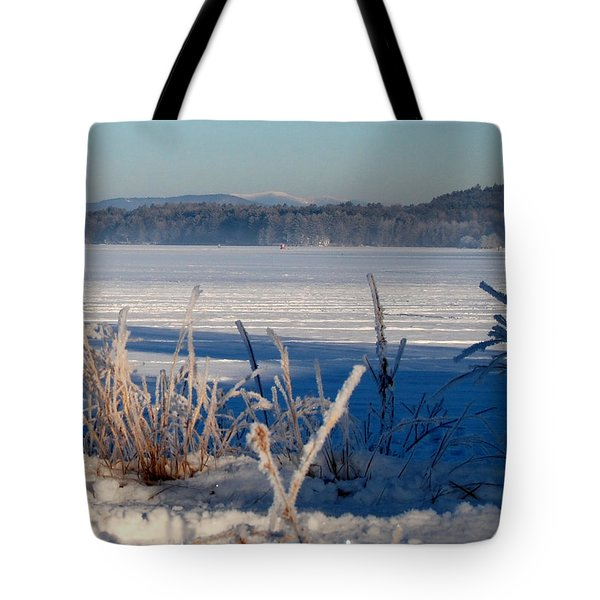 Winnisquam Winter Tote Bag by Mim White