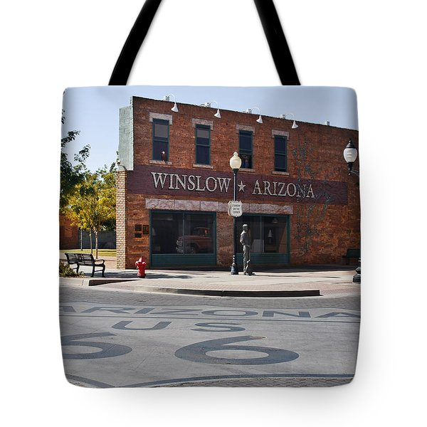 Winslow Arizona - Such A Fine Sight To See Tote Bag by Christine Till