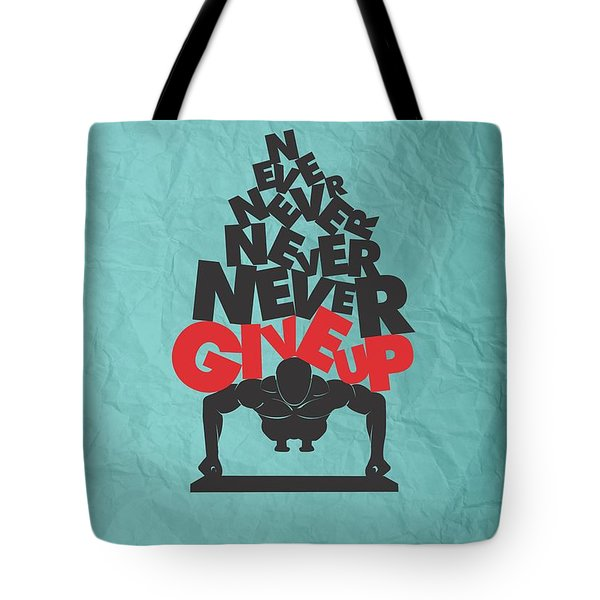 Winston Churchill Quotes Poster Tote Bag