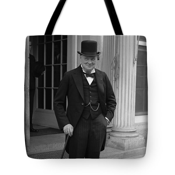 Winston Churchill Tote Bag by War Is Hell Store