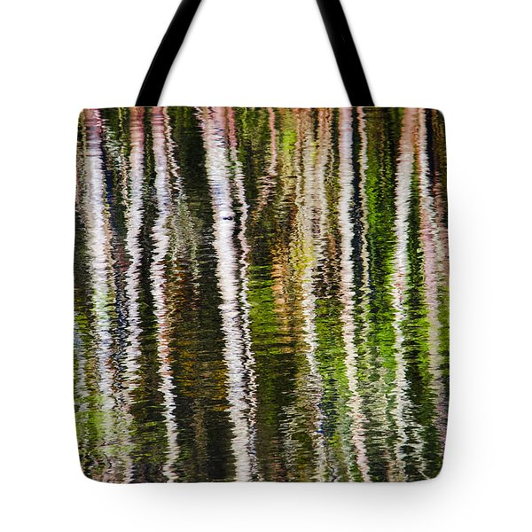 Winter Abstract Tote Bag by Carolyn Marshall