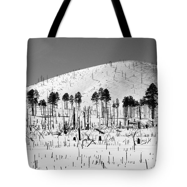 Winter After Fire-san Francisco Peaks Tote Bag
