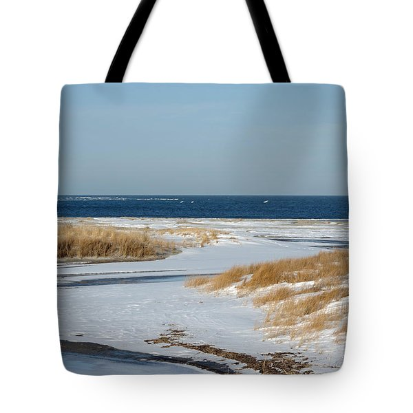 Winter At Hereford Inlet Tote Bag