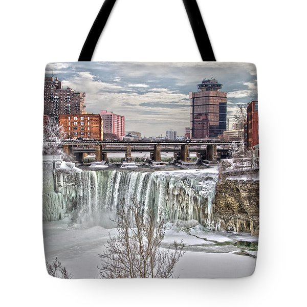 Winter At High Falls Tote Bag by William Norton