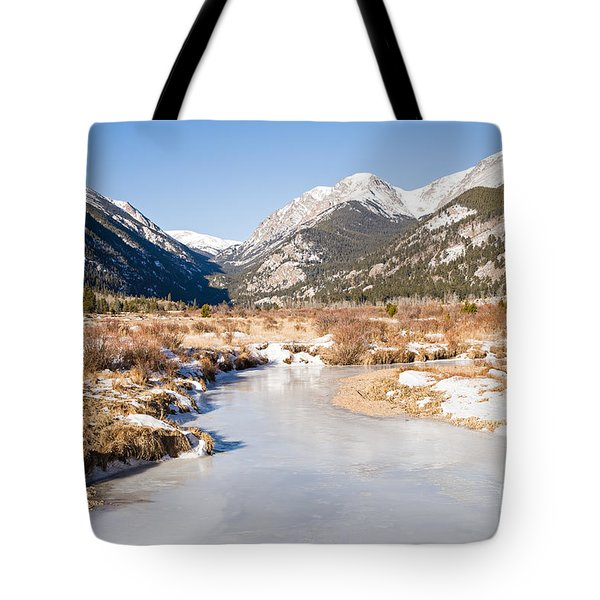 Winter At Horseshoe Park In Rocky Mountain National Park Tote Bag