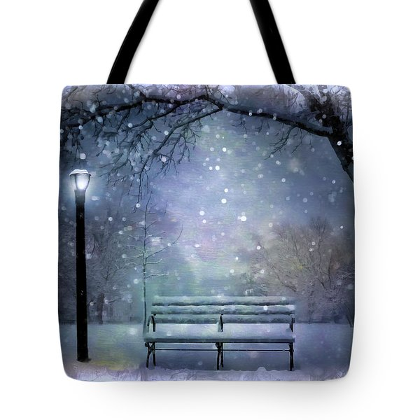Winter At Mcaren Park Tote Bag by Nina Bradica