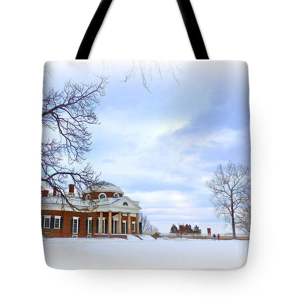 Winter At Monticello Tote Bag