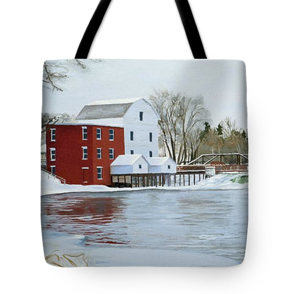 Winter At Phelps Mill Tote Bag