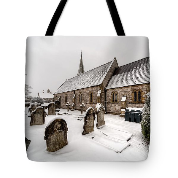Winter At St Paul Tote Bag by Adrian Evans