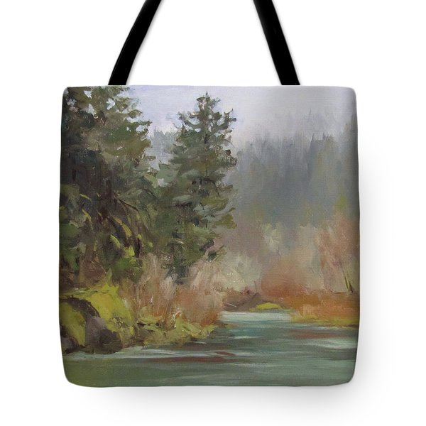 Winter At Swiftwater Tote Bag