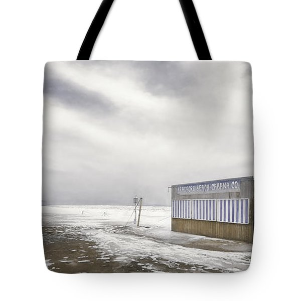 Winter At The Cabana Tote Bag by Scott Norris