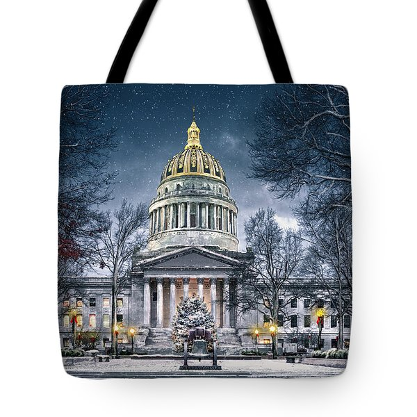 Winter At The Capitol Tote Bag