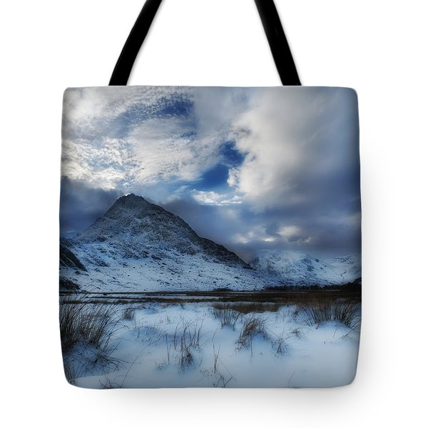 Winter At Tryfan Tote Bag