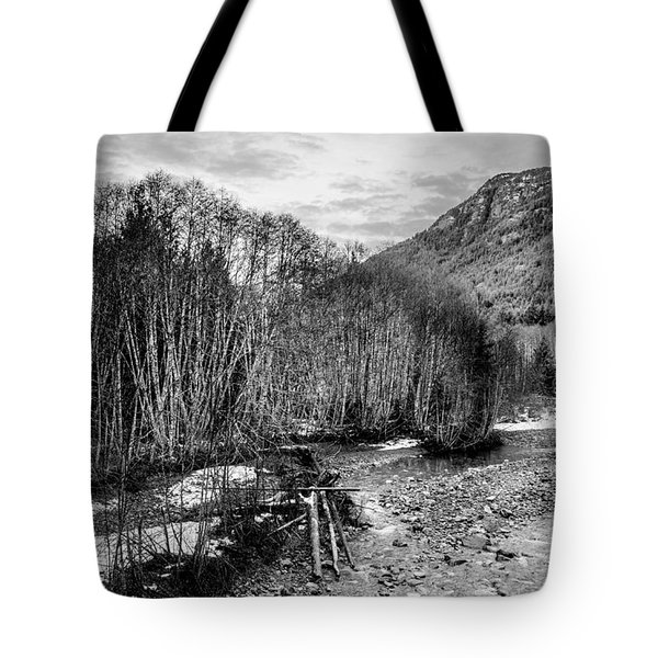 Winter Backroads Englishman River Tote Bag