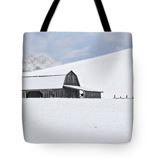 Winter Barn Tote Bag by Benanne Stiens
