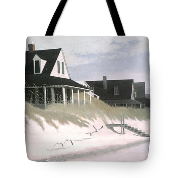 Winter Beach Tote Bag by Blue Sky