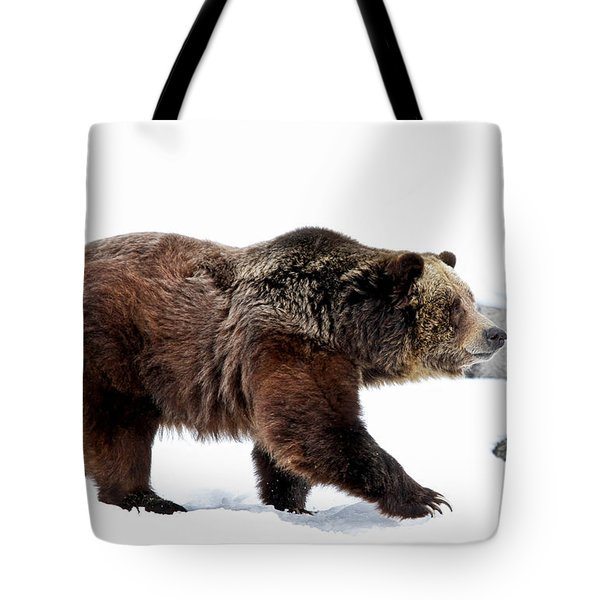 Winter Bear Walk Tote Bag