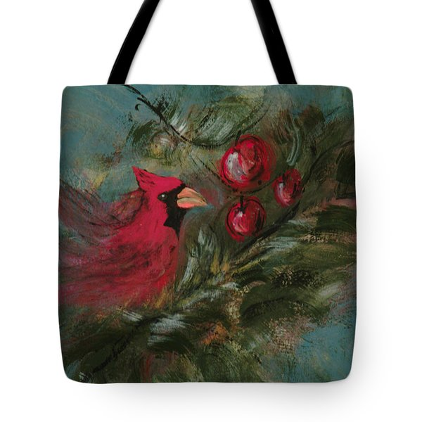 Winter Berries Tote Bag by Lee Beuther