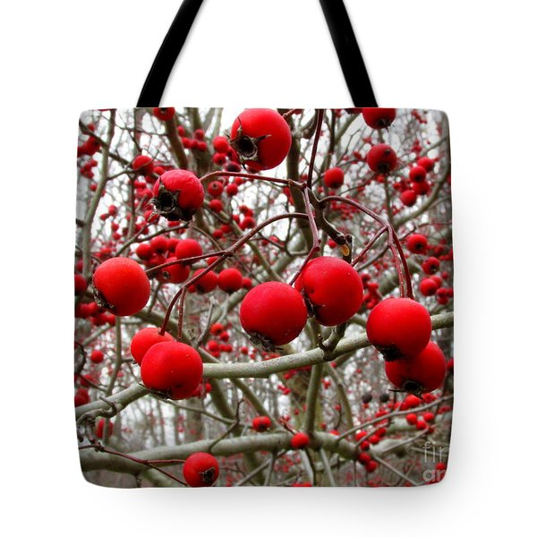 Winter Berryscape Tote Bag