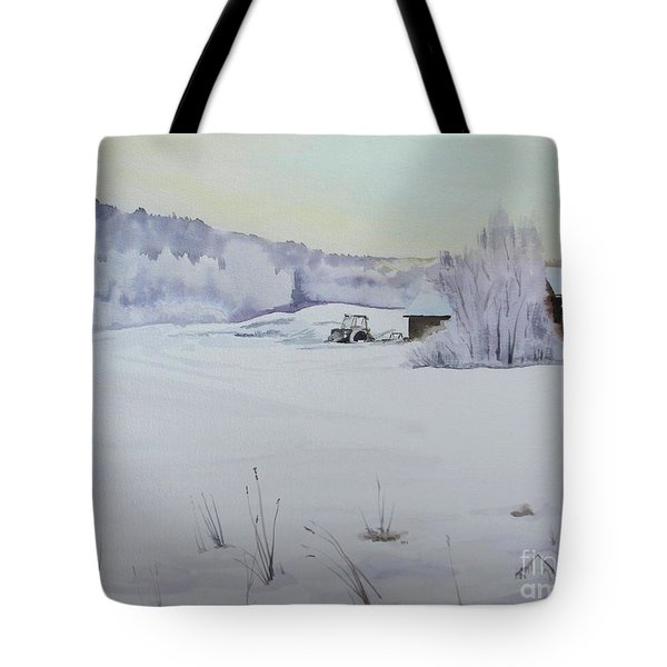 Winter Blanket Tote Bag