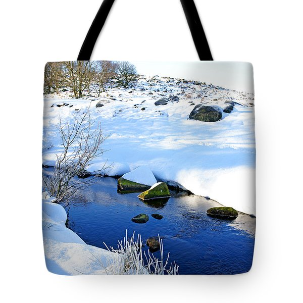 Tote Bag featuring the photograph Winter Blue by David Birchall