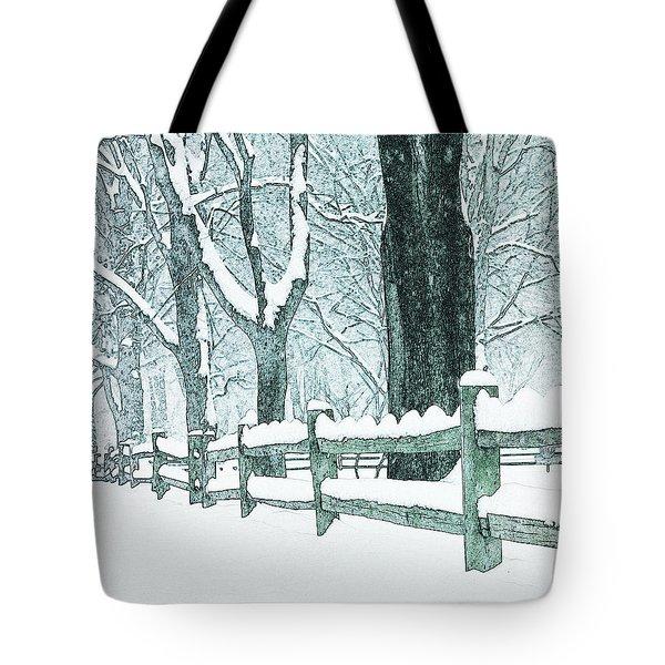 Winter Blues Tote Bag by John Stephens