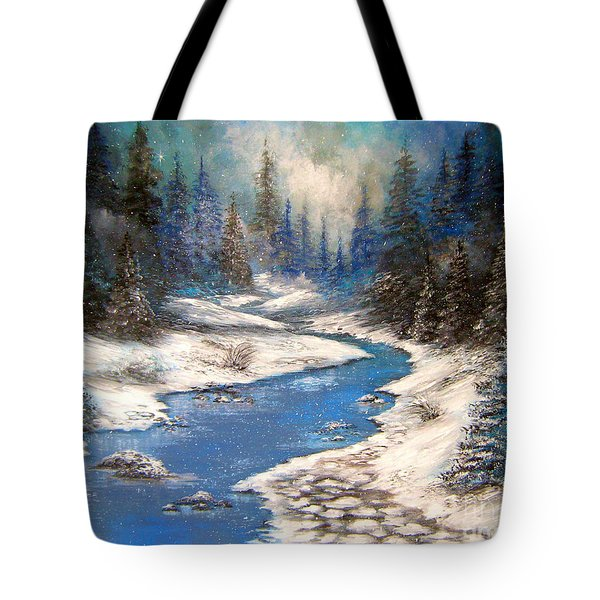 One Little Blue Tote Bag