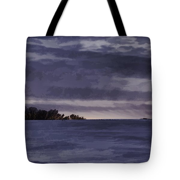 Winter Blues Tote Bag by Thomas Young